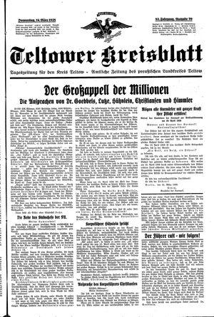 Teltower Kreisblatt vom 24.03.1938