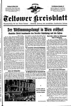 Teltower Kreisblatt vom 25.03.1938