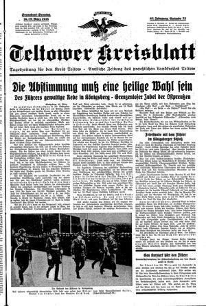 Teltower Kreisblatt vom 26.03.1938