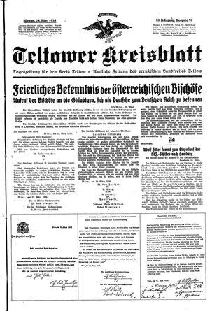 Teltower Kreisblatt vom 28.03.1938
