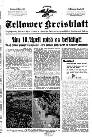 Teltower Kreisblatt vom 29.03.1938