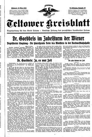 Teltower Kreisblatt vom 30.03.1938