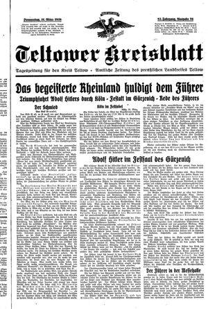 Teltower Kreisblatt vom 31.03.1938
