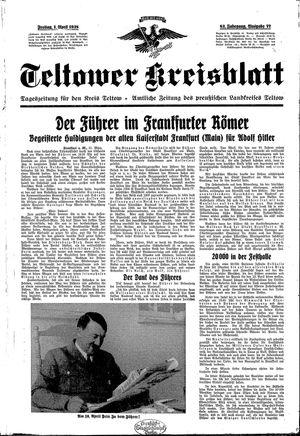 Teltower Kreisblatt vom 01.04.1938