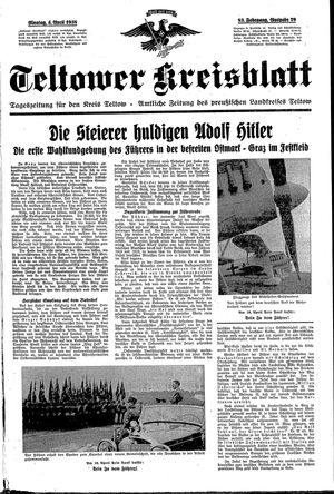 Teltower Kreisblatt vom 04.04.1938