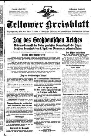 Teltower Kreisblatt vom 05.04.1938