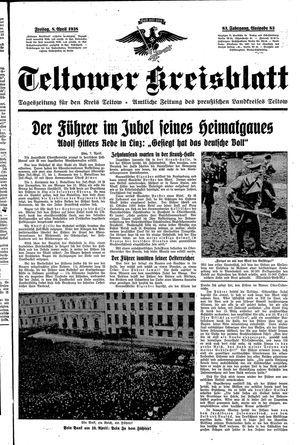 Teltower Kreisblatt vom 08.04.1938