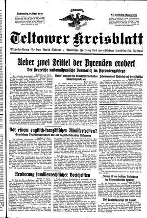 Teltower Kreisblatt on Apr 14, 1938