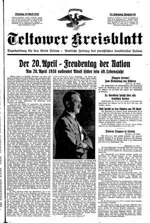 Teltower Kreisblatt vom 19.04.1938
