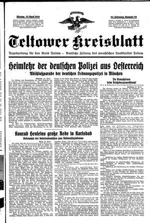 Teltower Kreisblatt on Apr 25, 1938