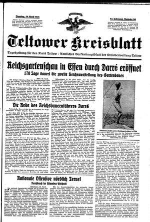 Teltower Kreisblatt vom 26.04.1938