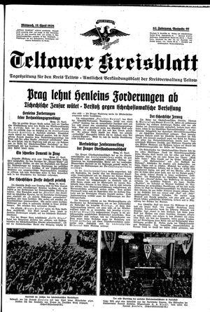 Teltower Kreisblatt vom 27.04.1938