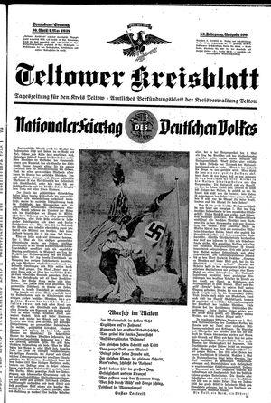 Teltower Kreisblatt vom 30.04.1938