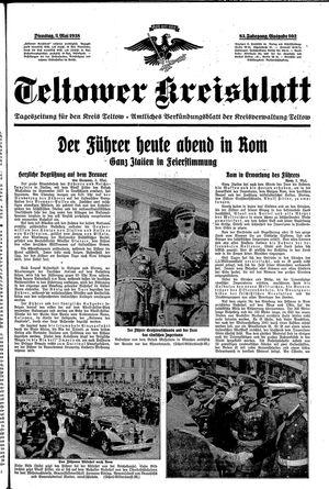 Teltower Kreisblatt vom 03.05.1938