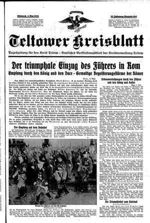 Teltower Kreisblatt vom 04.05.1938