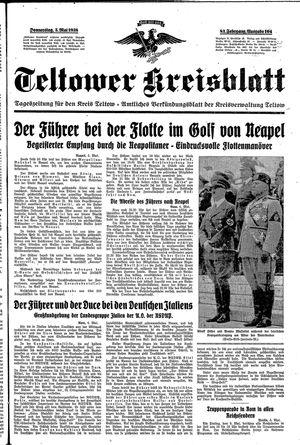 Teltower Kreisblatt vom 05.05.1938