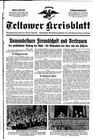 Teltower Kreisblatt vom 09.05.1938