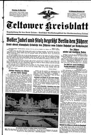 Teltower Kreisblatt on May 10, 1938