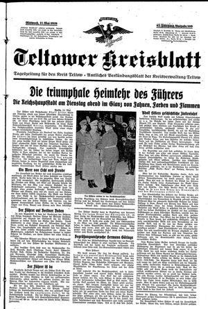 Teltower Kreisblatt vom 11.05.1938