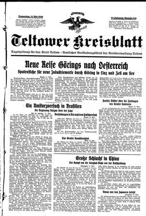 Teltower Kreisblatt vom 12.05.1938