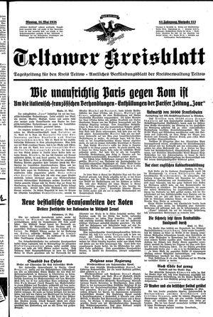 Teltower Kreisblatt vom 16.05.1938