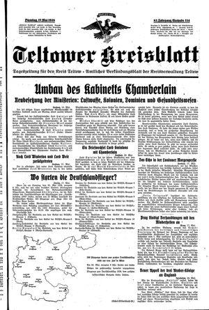 Teltower Kreisblatt vom 17.05.1938