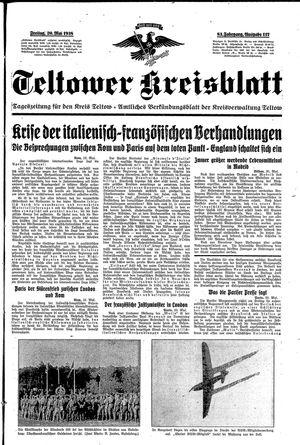 Teltower Kreisblatt vom 20.05.1938