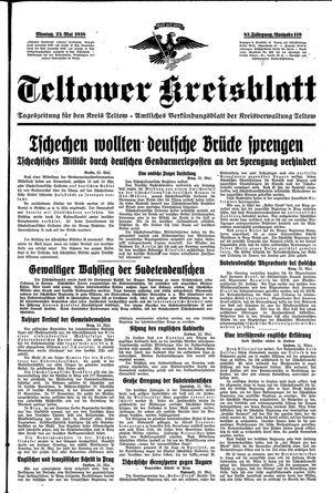 Teltower Kreisblatt vom 23.05.1938