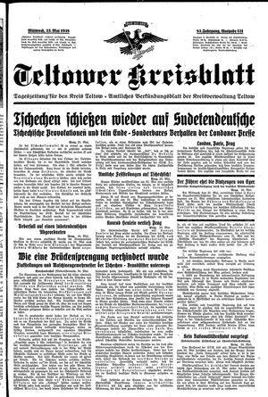 Teltower Kreisblatt vom 25.05.1938