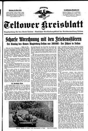 Teltower Kreisblatt vom 30.05.1938