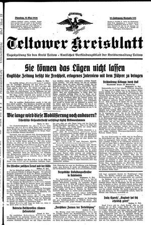 Teltower Kreisblatt vom 31.05.1938