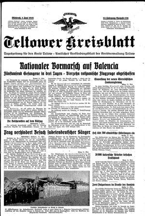 Teltower Kreisblatt vom 01.06.1938