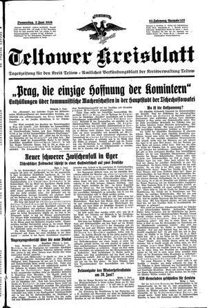 Teltower Kreisblatt vom 02.06.1938