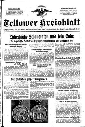 Teltower Kreisblatt vom 03.06.1938