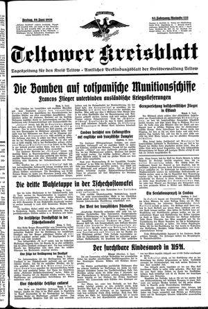 Teltower Kreisblatt vom 10.06.1938