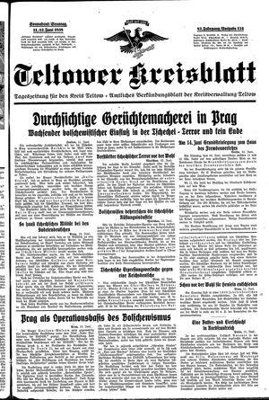 Teltower Kreisblatt vom 11.06.1938