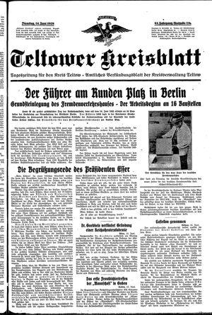 Teltower Kreisblatt vom 14.06.1938