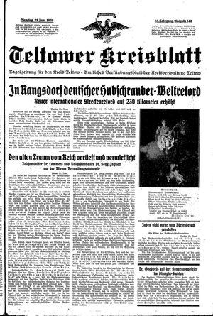Teltower Kreisblatt vom 21.06.1938