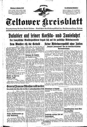 Teltower Kreisblatt vom 02.01.1939