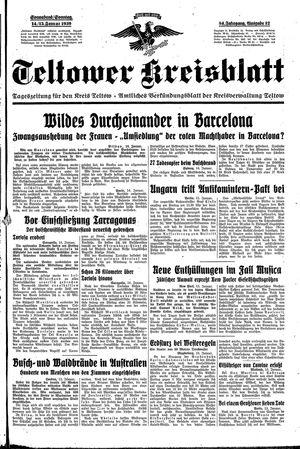 Teltower Kreisblatt vom 14.01.1939