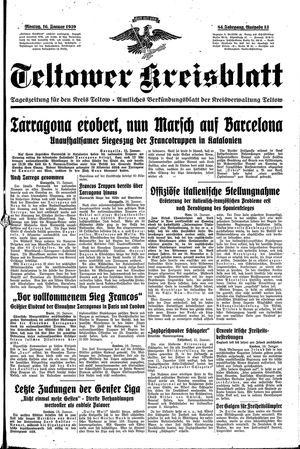 Teltower Kreisblatt on Jan 16, 1939