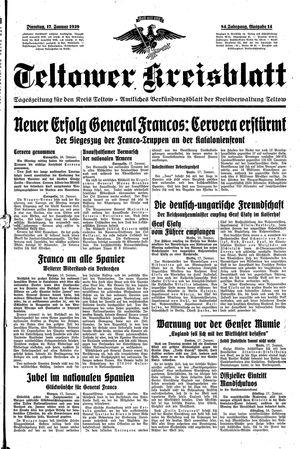 Teltower Kreisblatt on Jan 17, 1939