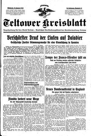 Teltower Kreisblatt vom 18.01.1939