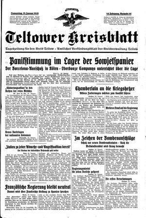 Teltower Kreisblatt vom 19.01.1939