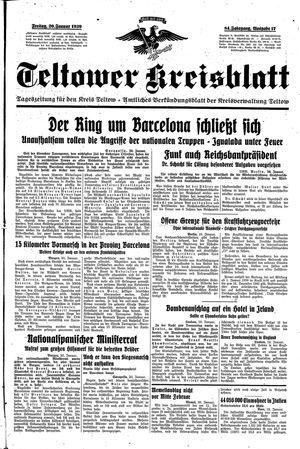 Teltower Kreisblatt vom 20.01.1939