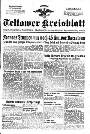 Teltower Kreisblatt vom 21.01.1939