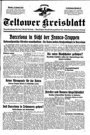 Teltower Kreisblatt vom 23.01.1939
