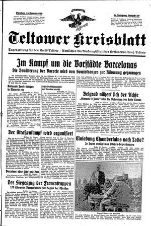 Teltower Kreisblatt vom 24.01.1939