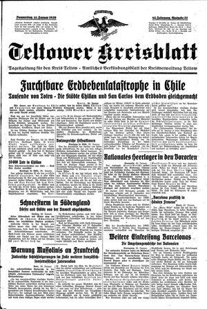 Teltower Kreisblatt on Jan 26, 1939