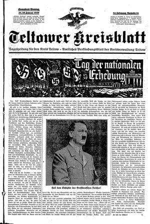 Teltower Kreisblatt vom 28.01.1939